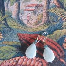 Aventurijn zilveren oorbellen