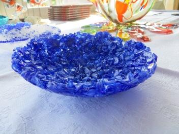 Pate de Verre in Blauw glas