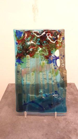 Glasschilderij Blue Wood