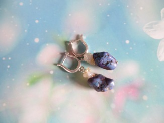 purple raw earrings (5)